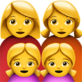 Family: Woman, Woman, Girl, Girl on Apple iOS 12.2