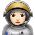 Woman Astronaut: Light Skin Tone on Apple iOS 12.2