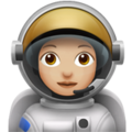 Woman Astronaut: Medium-Light Skin Tone on Apple iOS 12.2