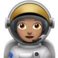 Woman Astronaut: Medium Skin Tone on Apple iOS 12.2