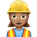 Woman Construction Worker: Medium Skin Tone on Apple iOS 12.2