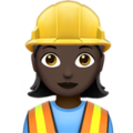 Woman Construction Worker: Dark Skin Tone on Apple iOS 12.2