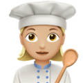 Woman Cook: Medium-Light Skin Tone on Apple iOS 12.2