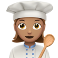 Woman Cook: Medium Skin Tone on Apple iOS 12.2