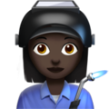 Woman Factory Worker: Dark Skin Tone on Apple iOS 12.2