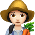 Woman Farmer: Light Skin Tone on Apple iOS 12.2