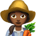 Woman Farmer: Medium-Dark Skin Tone on Apple iOS 12.2