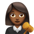Woman Judge: Medium-Dark Skin Tone on Apple iOS 12.2