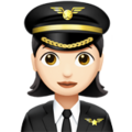Woman Pilot: Light Skin Tone on Apple iOS 12.2
