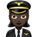 Woman Pilot: Dark Skin Tone on Apple iOS 12.2