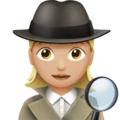 Woman Detective: Medium-Light Skin Tone on Apple iOS 12.2