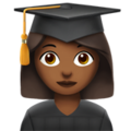 Woman Student: Medium-Dark Skin Tone on Apple iOS 12.2