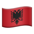 Flag: Albania on Apple iOS 12.2