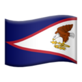 Flag: American Samoa on Apple iOS 12.2