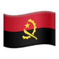 Flag: Angola on Apple iOS 12.2