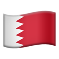 Flag: Bahrain on Apple iOS 12.2