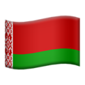 Flag: Belarus on Apple iOS 12.2