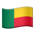 Flag: Benin on Apple iOS 12.2