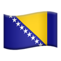 Flag: Bosnia & Herzegovina on Apple iOS 12.2