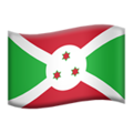 Flag: Burundi on Apple iOS 12.2