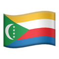 Flag: Comoros on Apple iOS 12.2