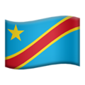 Flag: Congo - Kinshasa on Apple iOS 12.2