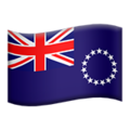 Flag: Cook Islands on Apple iOS 12.2