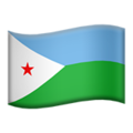 Flag: Djibouti on Apple iOS 12.2
