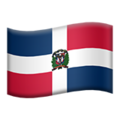 Flag: Dominican Republic on Apple iOS 12.2