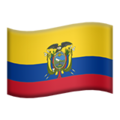 Flag: Ecuador on Apple iOS 12.2