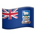 Flag: Falkland Islands on Apple iOS 12.2