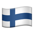 Flag: Finland on Apple iOS 12.2