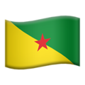 Flag: French Guiana on Apple iOS 12.2