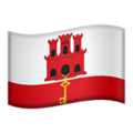 Flag: Gibraltar on Apple iOS 12.2