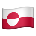 Flag: Greenland on Apple iOS 12.2