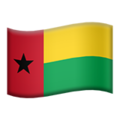 Flag: Guinea-Bissau on Apple iOS 12.2