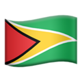 Flag: Guyana on Apple iOS 12.2