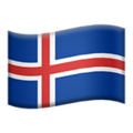 Flag: Iceland on Apple iOS 12.2