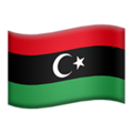 Flag: Libya on Apple iOS 12.2