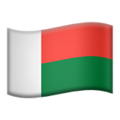 Flag: Madagascar on Apple iOS 12.2