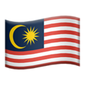 Flag: Malaysia on Apple iOS 12.2