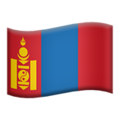 Flag: Mongolia on Apple iOS 12.2
