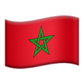 Flag: Morocco on Apple iOS 12.2
