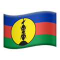 Flag: New Caledonia on Apple iOS 12.2