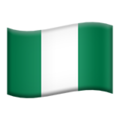 Flag: Nigeria on Apple iOS 12.2