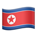 Flag: North Korea on Apple iOS 12.2
