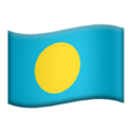 Flag: Palau on Apple iOS 12.2