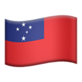Flag: Samoa on Apple iOS 12.2