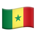 Flag: Senegal on Apple iOS 12.2