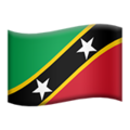 Flag: St. Kitts & Nevis on Apple iOS 12.2